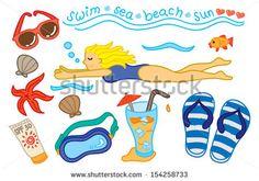 swimming icon doodle by mhatzapa, via ShutterStock