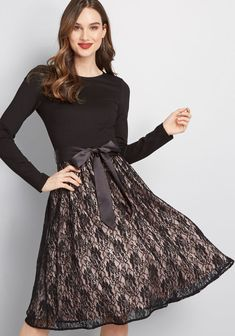 Go With Grace Long Sleeve Dress in Black Lace Valentines Day Dresses c4ea6f1b0a4b