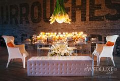 table design by 5th Element Events via WedLuxe Magazine