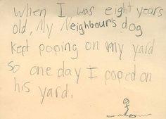 Best ideas for funny kids writing humor Funny Notes From Kids, Kids Notes, Funny Quotes For Kids, Fun Sayings, Kids Test Answers, Funny Test Answers, How To Get Revenge, Sweet Revenge, Homework Humor