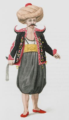 Traditional Ottoman Folk Costumes, The Janissaries uniforms, Turkish Sultans. Historical Costume, Historical Clothing, Official Dresses, Ottoman Turks, Female Dancers, Muslim Men, Mughal Empire, Arab Women, Empire Style