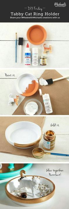 DIY Tutorial | Cat Ring Holder | Pinterest: Creojam