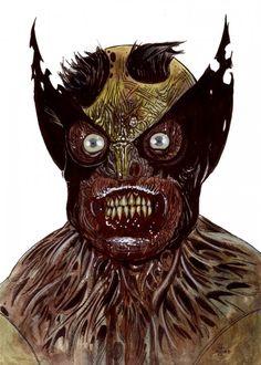 Zombie wolverine by Rob Sachetto.
