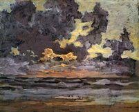 A LANDSCAPE AT SUNSET von Piet Mondrian