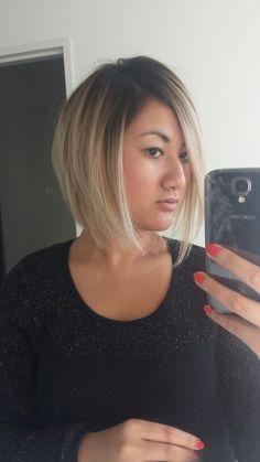 My new hair colour!!! ♡♡ #blonde #hair #ombré #beyoncehair #asian #loveit