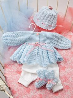 Annie's Attic Beautiful Baby Boutique II - Crochet Pattern. These precious heirloom-quality designs by Rebecca Leigh are made using fingering, light and sport-w