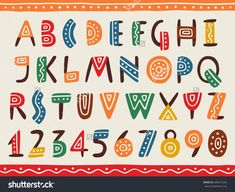 Indian Style 469218854931240934 - Tribal ethnic bright alphabet and number Hand drawn graphic font in african or indian style Primitive simple stylized design Vector abc Source by sandrolphe Hand Lettering Alphabet, Alphabet Design, Calligraphy Letters, Caligraphy, T Shirt Fonts, Mexican Fonts, Indian Font, Summer Font, Geometric Font