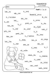 Vybrané slová - doplňovačky. - Aktivity pre deti, pracovné listy, online testy a iné Math Equations, Teaching, Education, Words, Nails, Finger Nails, Ongles, Onderwijs, Learning