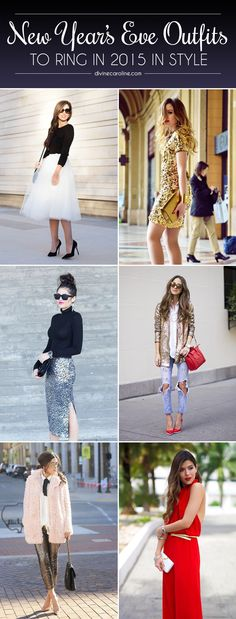When it comes to style, New Year's Eve is the night to go big or stay home. Get inspired with these 12 blogger NYE looks. #WinterStyle