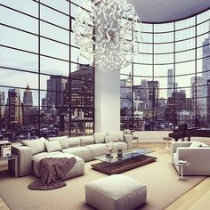 Penthouse in New York - Luxury Homes New York Penthouse, Luxury Penthouse, Luxury Apartments, Luxury Homes, Manhattan Penthouse, Luxury Cars, Design Apartment, Dream Apartment, Apartment Interior