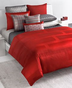 I can swap out the grey for other colors on sheets and shams. There will not be all these pillows. Hotel Frame Lacquer Bedding Collection