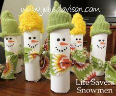 Life saver snowmen