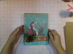 Paper bag mini album - matchbook style from Kathy Orta of Paper Phenomenon Paper Bag Scrapbook, Mini Scrapbook Albums, Scrapbook Cards, Mini Albums, Paper Bag Album, Paper Bags, Card Tutorials, Video Tutorials, Mini Album Tutorial