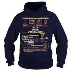 Awesome Tee HELP DESK SUPERVISOR Shirt; Tee
