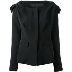 BURBERRY PRORSUM black fitted jacket