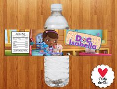 Doc McStuffins Water Bottle label Printable by HeartPartyInvites, $4.99