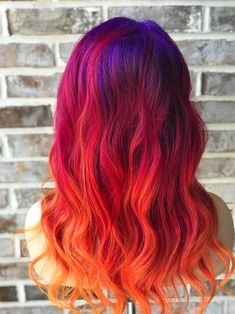 43 Most Gorgeous and Eye-Catching 🌅 Sunset Hair Colour Long Hair and Short Hair for Prom and Wedding 😻 - Diaror Diary - Frisuren - Prom Hairstyles For Short Hair, Pretty Hairstyles, Short Hair Cuts, Wedding Hairstyles, Short Hair Styles, Hairstyles Haircuts, Pretty Hair Color, Hair Colour, Colour Colour