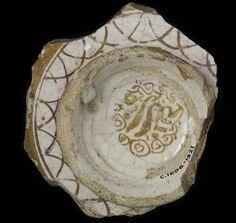 Bowl fragment from Malaga, Spain 1300-1400