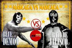 BLUE DEMON VS RAYO DE JALISCO MÁSCARA VS MÁSCARA 30 DE JULIO DE 1989