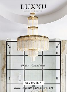 Golden Lamps: Lighting Beauties You Cannot Miss in This New Year's Eve Black Interior Design, Top Interior Designers, Interior Design Inspiration, Bathroom Inspiration, Restaurant Lounge, Modern Restaurant, Restaurant Interior Design, Modern Chandelier, Modern Lamps