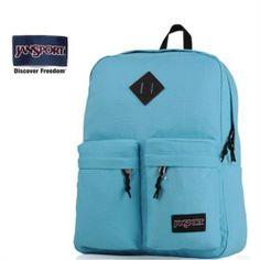 JanSport Hoffman Blue Two Front Pocket Backpack - Jansport backpack-Campaign Categories - TopBuy.com.au