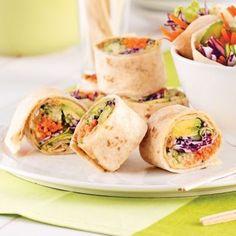 Wraps façon rouleaux de printemps - Recettes - Cuisine et nutrition - Pratico Pratique