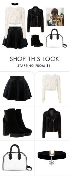 """""""Black and White"""" by maja-jahic ❤ liked on Polyvore featuring A.L.C., Hogan, Paige Denim and STELLA McCARTNEY"""