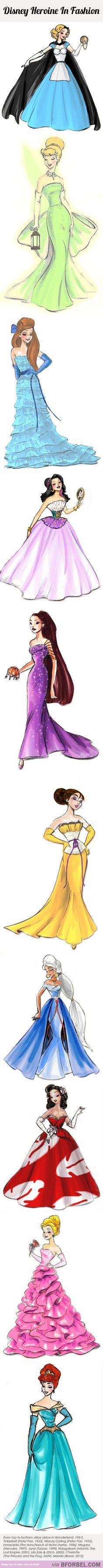10 Disney Princesses In Fashion….