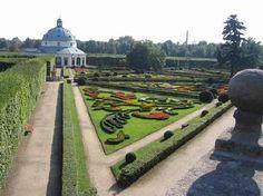 Gardens and Castle at Kromeriz: Květná zahrada (Flower Garden)  Czech Republic