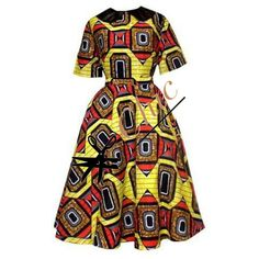 Classy and unique dress with a great mix of a soft cotton bodice and an African print midi circle skirt. Get the best of both worlds with this dress that's available in all sizes, and comes in a varie African Print Skirt, African Print Dresses, African Fabric, African Dress, African Prints, African Inspired Fashion, African Print Fashion, Africa Fashion, Fashion Prints