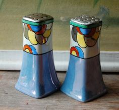 Art Deco Lusterware Decorative Salt and Pepper Shakers