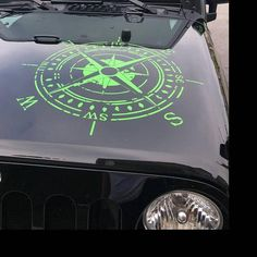Jeep Wrangler Oscar Mike distressed style compass hood vehicle window decal Multiple sizes and colors Jeep Jk, Jeep Gear, Jeep Rubicon, White Jeep, Black Jeep, Jeep Wrangler Accessories, Jeep Accessories, Jeep Wrangler Upgrades, Jeep Hood Decals