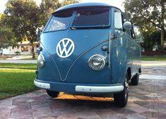vw bus: 1956 Wolfsburg Kombi #VolkswagenType2 Volkswagen Westfalia Campers, Volkswagen Type 2, Vw Bus, Vans, Vehicles, Happiness, Trucks, Blue, Vintage