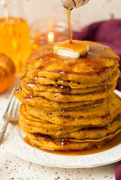 The+Best+Pumpkin+Pancakes. Very good! I added a cinnamon streusel I pinned!