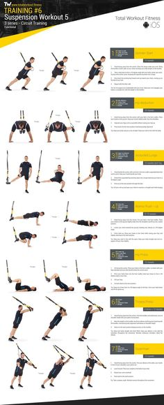 Yoga-Get Your Sexiest Body Ever Without - Training - Suspension Workout 2 :: Total Workout Fitness s. - Get your sexiest body ever without,crunches,cardio,or ever setting foot in a gym Fitness Hacks, Fitness Workouts, Yoga Fitness, Trx Full Body Workout, At Home Workouts, Trx Workout Pdf, Trx Workouts For Women, Cardio Yoga, Workout Men