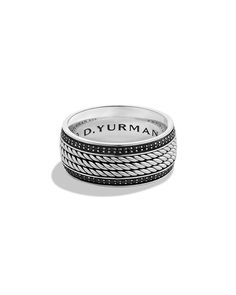 David Yurman Maritime Rope Band Ring, Size: 10, silver More