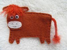 Cow brooch, highland cow, felt brooch, cow badge, gift for her, gift for wife, £4.50 #highlandcow #brooch #giftsforher Gifts For Wife, Gift For Lover, Gifts For Her, Scotland Holidays, Scottish Gifts, Felt Brooch, Diy Ornaments, Paper Cover, Felting