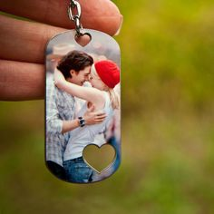 Personalized Photo Keychain Picture Keychain by blackanvilcraft