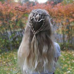 Heart braid by @jennishairdays #Sydänletti #twistiputous #heartbraid #waterfalltwist