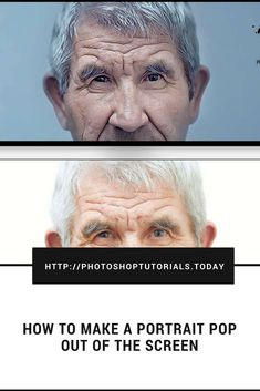 HOW TO MAKE A PORTRAIT POP OUT OF THE SCREEN #photoshoptutorials #portrait