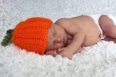 Crochet Fall Pumpkin Hat  Made to Order  by AlishaMayCreations, $20.00