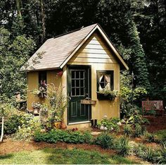 Cottage Gardens English Cottage Garden Shed - Dreaming of a backyard escape or simply a place to store your gardening tools? Take a look at these garden shed plans.