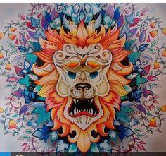 Floresta encantada/ jardim secreto Leão