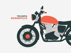 Triumph Illustration designed by zach mihalchick. Triumph Logo, Triumph Bikes, Motor Logo, Visual Communication Design, Triumph Bonneville, Super Bikes, Bike Design, Flat Illustration, Chain Stitch