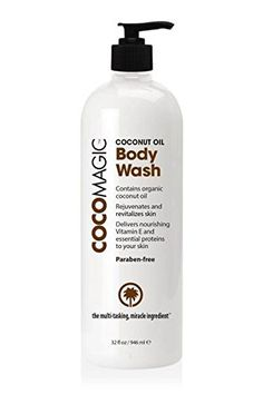 CocoMagic Coconut Oil Body Wash 32 Oz >>> You can find more details by visiting the image link.