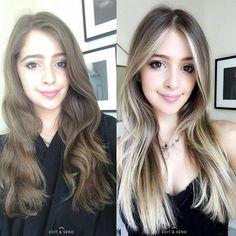 Dark Blonde Hair Color, Blonde Roots, Hair Color Purple, Brown Blonde Hair, Dark Hair, Blonde Bob Hairstyles, Cool Hairstyles, Long Hair Cuts, Long Hair Styles