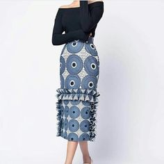 african fashion african print midi skirt with fringeMade of quality wax suitable for all types of eventscan be made in other fabric options contact me for more details (colour in African Attire, African Wear, African Women, African Dress, African Fashion Designers, Latest African Fashion Dresses, African Print Fashion, Ankara Fashion, Africa Fashion