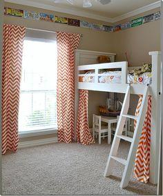 Ideas For Diy Headboard Kids Room Ana White Big Girl Rooms, Boy Room, Kids Room, Wall Folding Bed, Girls Bedroom, Bedroom Decor, Kid Bedrooms, Trendy Bedroom, One Room Flat