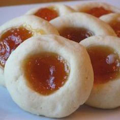 Apricot Cream Cheese Thumbprint cookies...