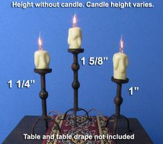 """TL-TCS100+ 1"""" Tudor Table Candle Stand"""